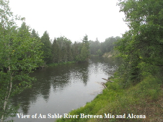 View of Au Sable River Between Mio and Alcona