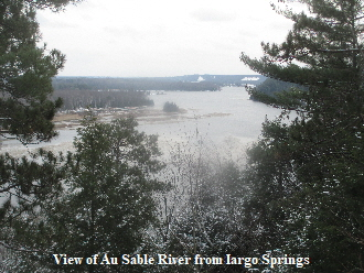 View of Au Sable River from Iargo Springs