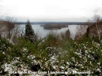 Au Sable River From Lumberman's Monument