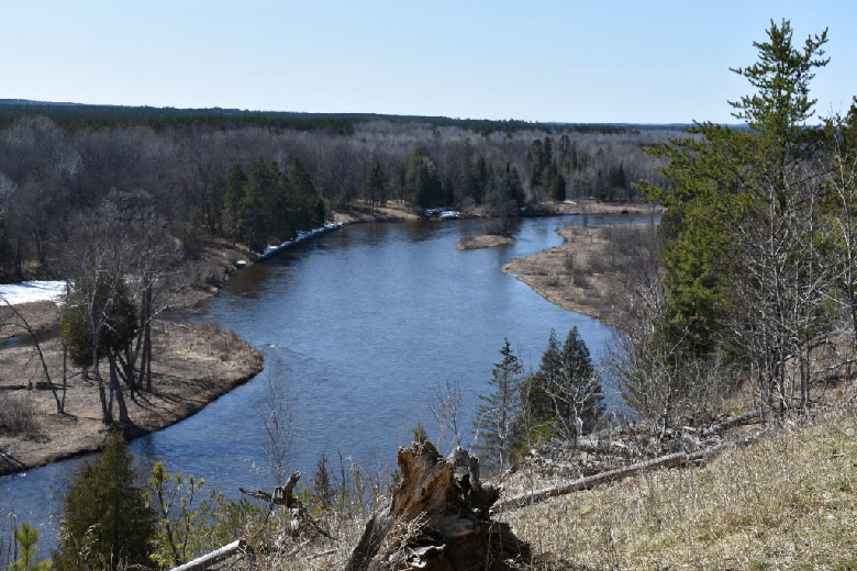 View of Au Sable River from Au Sable Highbanks