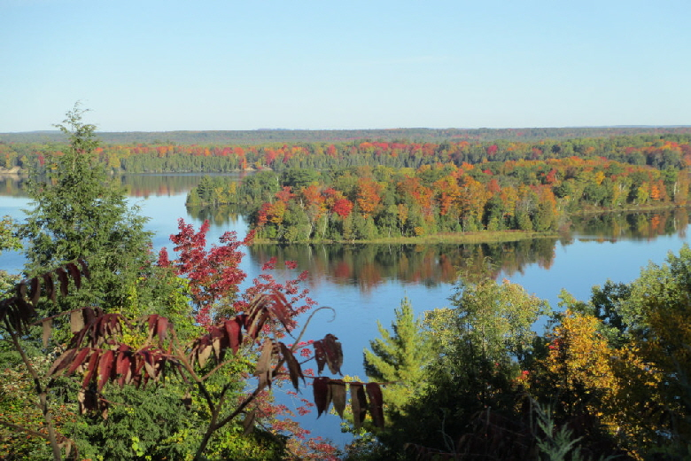 View of Au Sable River from Lumbermen's Monument
