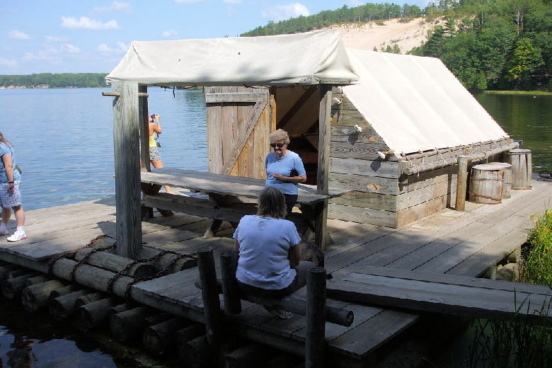 Wanigan (Floating Cook Shack) at Lumbermen's Monument